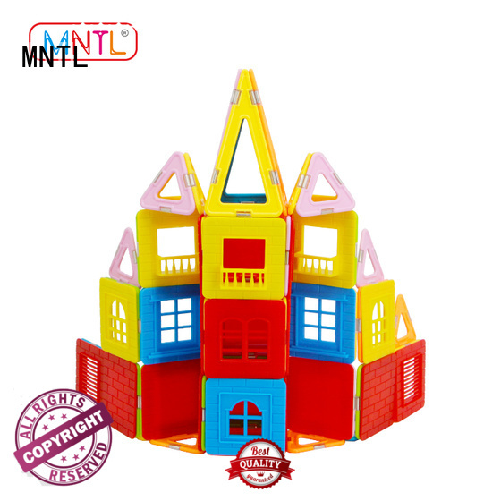 MNTL Magnetic Building Blocks Set, A8212 130 Pcs with Windows Balcony Kids Toys Plastic