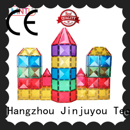 solid mesh Magnetic Building Tiles rose red Magnetic Construction Toys For Children