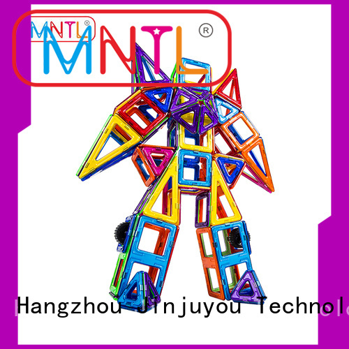 Rotatable Magnetic Building Blocks rose red For Children MNTL