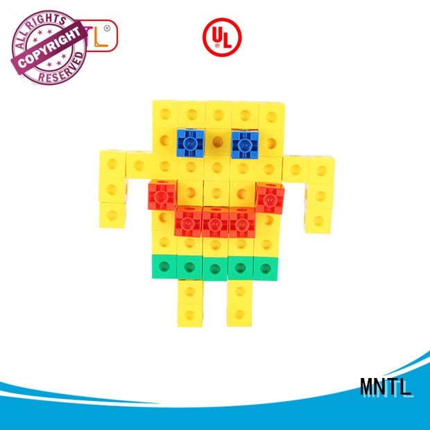 MNTL rose red Plastic Magnetic Building Tiles Recreational For kids
