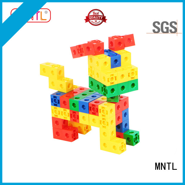 MNTL Educational Conventional toy building blocks plastic orange, For Toddler