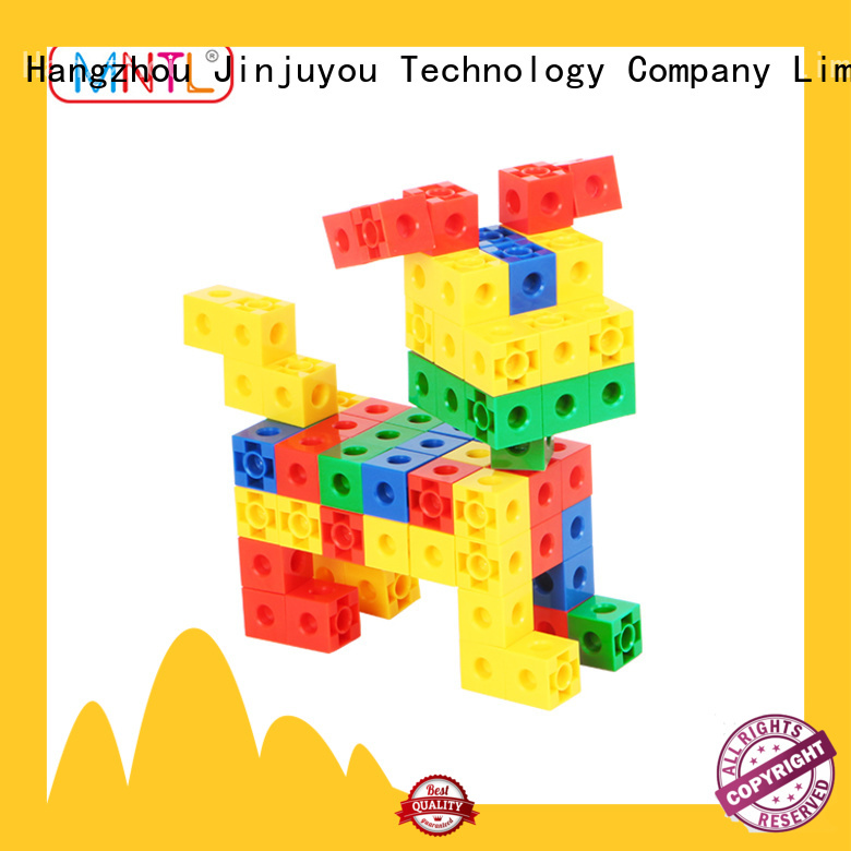 ABS plastic vintage plastic building blocks rose red ABS plastic For Children