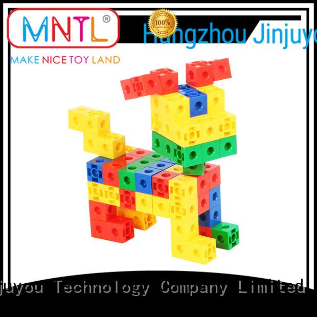 MNTL ABS plastic plastic building bricks Red, For Toddler