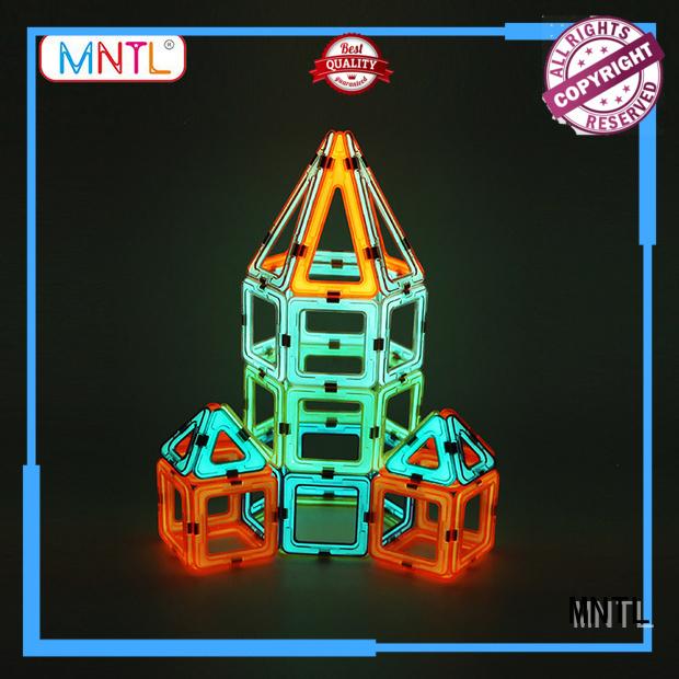 MNTL orange, Classic Magnetic Building Blocks DIY For kids
