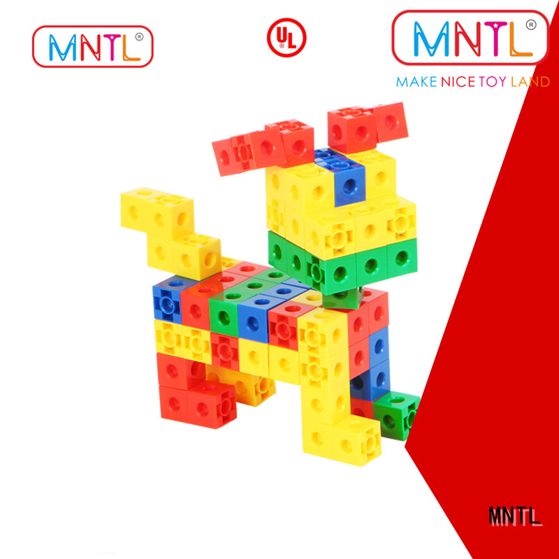 MNTL High quality plastic blocks toys yellow, For kids