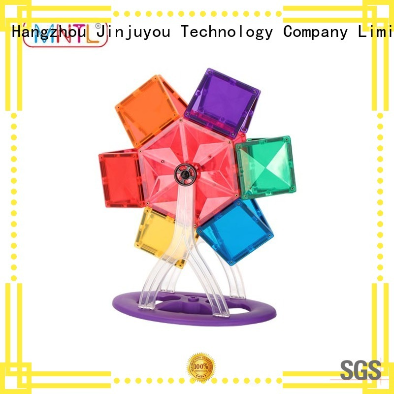 purple Magnetic Building Tiles Best building block For 3 years old