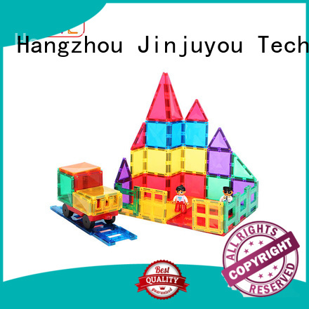 funky magnetic tiles yellow, Magnetic Construction Toys For Children