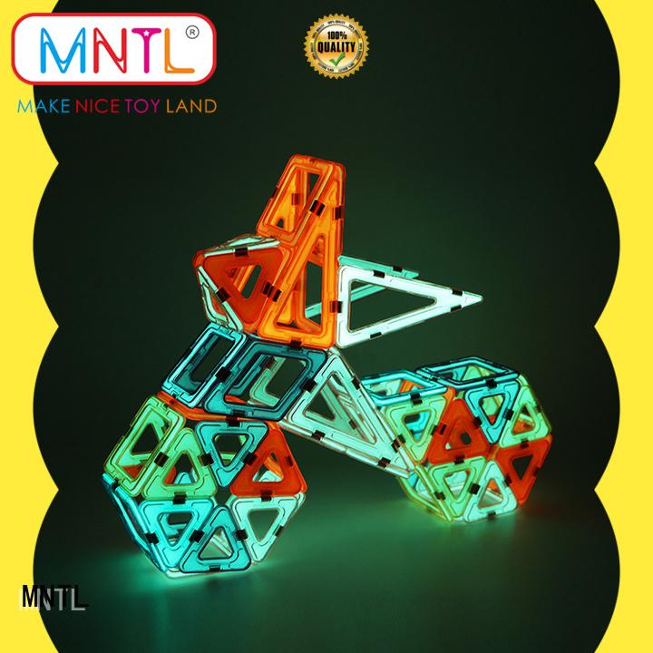 MNTL orange, magnetic blocks DIY For kids