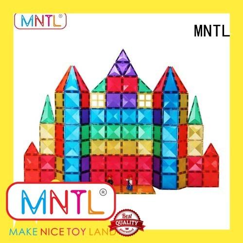 MNTL portable magnetic tiles for kids Magnetic Construction Toys For Children