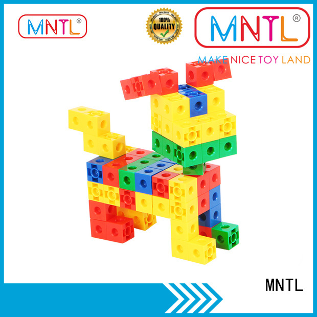 MNTL rose red plastic blocks toys yellow, For Children