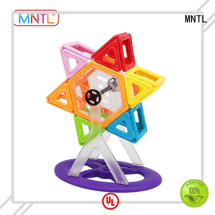 MNTL 84pcs Educational Magnetic Tiles, Magnetic Building Toys A8162 Solid Color Blocks Set