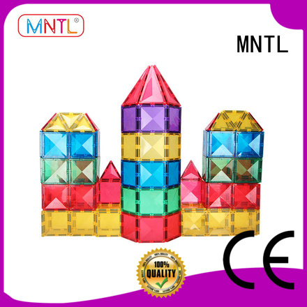 MNTL yellow, magnetic building blocks DIY For Children
