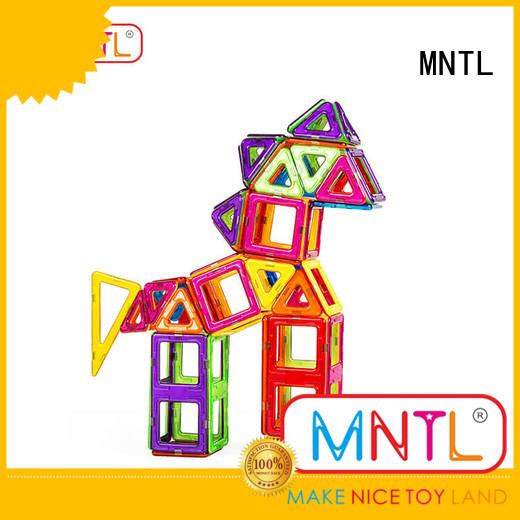 MNTL purple magnetic blocks Magnetic Construction Toys For Toddler