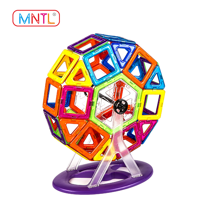 MNTL 46 Pieces A8101 Classic Ferries Wheels Set Creative Magnetic Building Blocks for Kids Toddlers