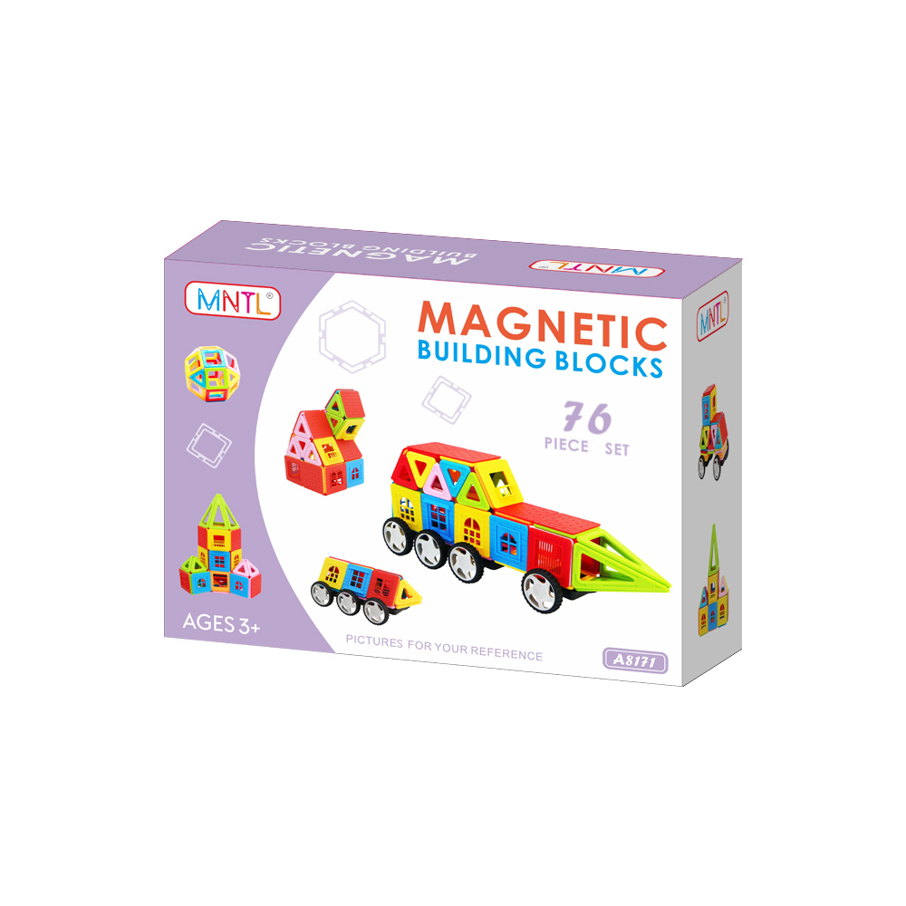 MNTL 76 Pcs Magnetic Blocks A8171 Sets Magnet Building Toys for Children