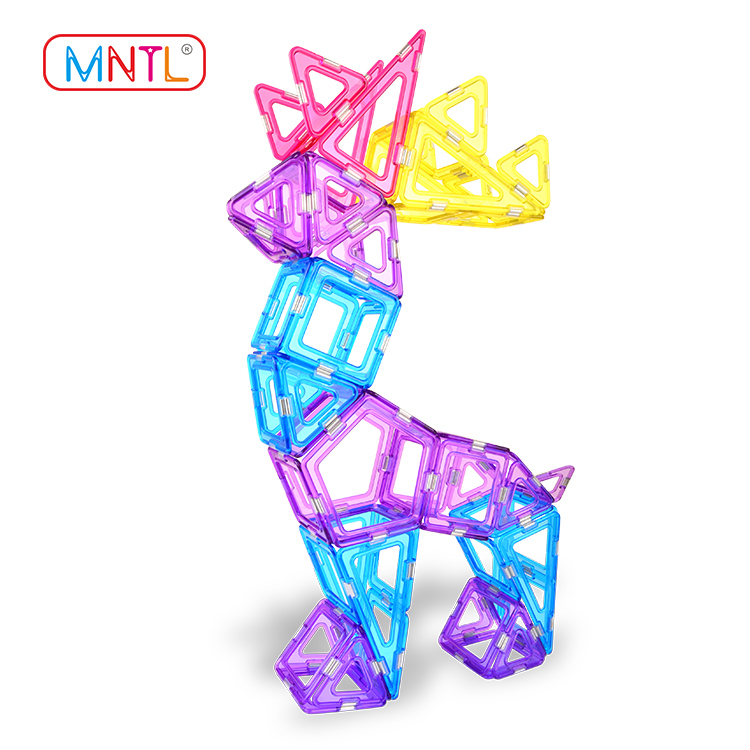 MNTL Magnetic Construction Blocks A8211 68 Pieces STEM Educational Toy Kit For Preschool Toddlers & Children