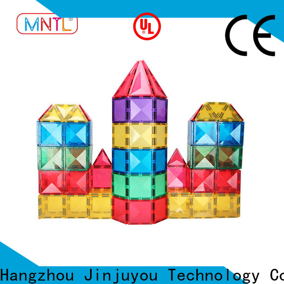 high-quality magnetic building tiles yellow, Magnetic Construction Toys For kids