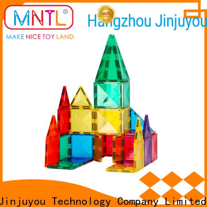 funky magnetic tiles for kids purple Magnetic Construction Toys For Children