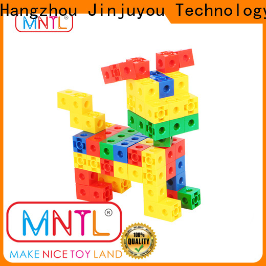 MNTL rose red toy building blocks plastic High quality For Toddler