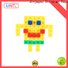 ABS plastic plastic construction toys green, rose red For Children