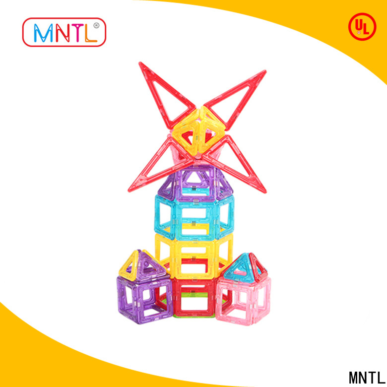 MNTL green, magnetic building block set customization For kids over 3 years