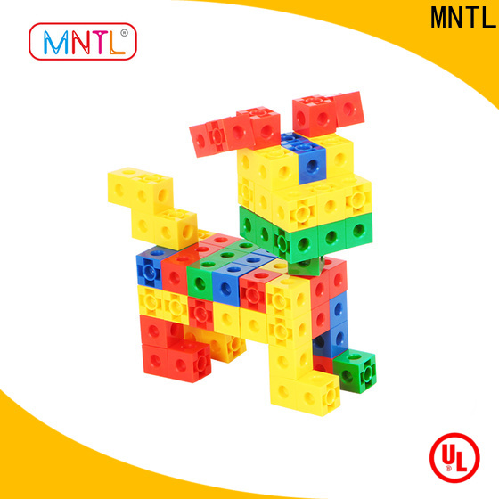 MNTL Educational Conventional plastic building blocks for toddlers orange, For kids