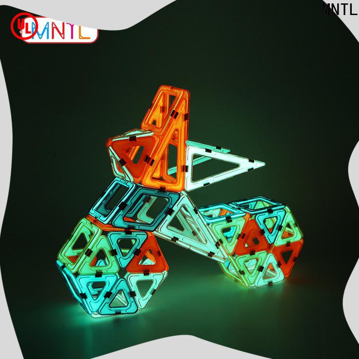 MNTL orange, magnet toy blocks DIY For kids