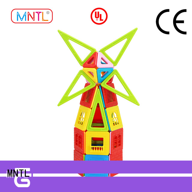 2019 magnetic construction set yellow, DIY For Children