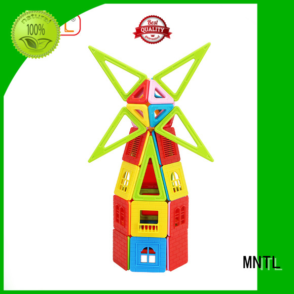 Hot building block magnetic shape toys rose red Magnetic Construction Toys For Children